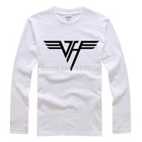 Shake off the Van Halen new wave of brand personality Hitz literary rock T-shirt long-sleeved t-shirt men and women