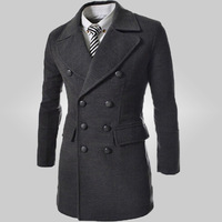 Free Shipping 2014 Hot Men's Jackets  Dust Coat Male Coat Size:M-2XL 94