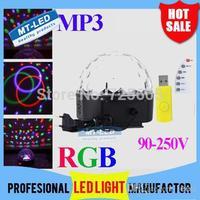 Music crystal LED magic light ball RGB led magic lamp MP3 USB player U disk remote control disco party dj stage lighting effect