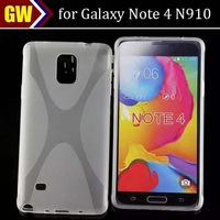 200pcs/lot For Samsung Galaxy Note 4 N910 Soft X Line TPU Gel Case Cover