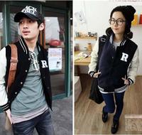 2014 Women's Men's Plus Size Varsity jacket Fashion New Autumn Baseball Jacket Unisex Outwear Sportwear 5 Designs  S-XL  #C0855