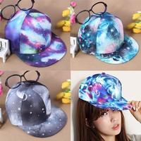Women Men Galaxy Hiphop Hippie Trukfit Dance Hat Snapback Sport Cap Adjustable  free shipping