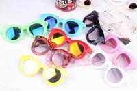 Baby influx of people of color mercury piece stylish sunglasses UV sunglasses children's fashion show decoration