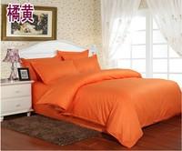 organge bedding set 1cm width satin cotton queen duvet cover set