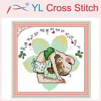 Free Shipping Needlework,Yoga Doll (3) Counted Cross StitchDIY Cross Stitch Sets Stitching Embroidery Kits Wall Home Decoration