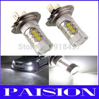 2 x 80W CREE LED Fog Lights H7 Car Vehicle Lights for Hyundai Genesie Sonata Veloster Accent on High Beam Daytime Running Lights