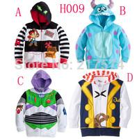2014 Fashion Brand Cartoon Children Outerwear Kids Coat autumn terry hooded cardigan Jacket