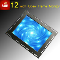 12 inch good quality TFT LED Open frame touch screen monitor with AV, VGA, HDMI
