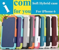 """10pcs/lot Soft TPU Silicone Rubber Gel Armor Hybrid cover case for iPhone 6 4.7"""""""