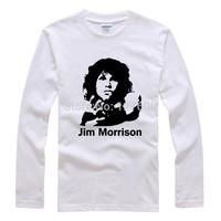 Jim Morrison, the doors shake off loose big yards trend Rock T shirt long sleeve t-shirt men women