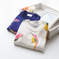 wholesale(5pcs/lot)- child  bird pattern sweater