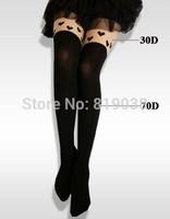 Unique love jacquard silk stockings Tall pantyhose