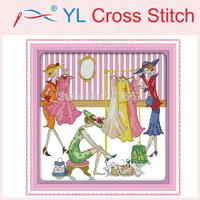 Happy Shopping Counted Cross Stitch DIY Cross Stitch Sets Stitching Embroidery Kits Needlework Wall Home Decoration