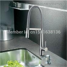 Modern New Deck mounted Chrome Brass Kitchen Faucet Sink Mixer Tap