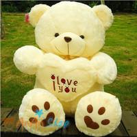 New Cute 27'' 70cm Plush Love Heart Teddy Bear Stuffed Animal Doll Soft Toy Hold Pillow Birthday Christmas Gift Free Shipping