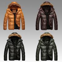 B 2014 New Men'S Winter Thick Warm Padded Jacket Fashion Brand Casual Hooded Cotton Jacket Collar Nagymaros XXXL P59