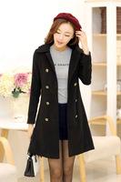 S-2XLSpring 2014 new plus size silk slim cardigan windbreaker women desigual trench coat for women women's trench coats overcoat