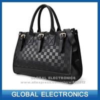 2014 Famous brand High quality PU leather women handbags fashion small silk scarf luxury plaid bag vintage women messenger bag