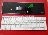 New for Sony VAIO SVF15 SVF152100C SVF153 SVF152 backlit US Keyboard white