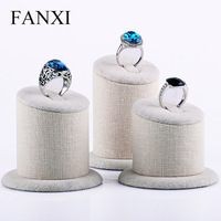 Free Shipping Ring display jewelry holder Korea linen 3 pcs cylindrical wild New fashion ring display holder