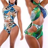Hot Sale Swimwear Women Boho Bikini Set New Swimsuit Lady High Waist Bandage Bathing suit The Amazon Wrap Swimsuit wholesale