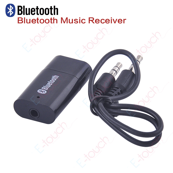 2014 New arrival Hot sale USB Bluetooth 3.5mm Audio Stereo Music Receiver For iphone Car MP3 FreeShipping & Wholesales(ET142)(China (Mainland))