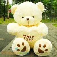 New Cute 33'' 85cm Plush Love Heart Teddy Bear Stuffed Animal Doll Soft Toy Hold Pillow Birthday Christmas Gift 4002