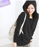 Women's cotton winter fashion hooded outerwear lady loose Clothing Sweatshirts overcoat jacket coat for women casual jacket