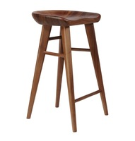 New design replica craig bassam tractor counter stool 75CM walnut solid wood bar stool home furniture chair B104S