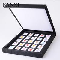High-grade PU leather jewel box Luo Dan Diamond display box  loose diamonds display tray