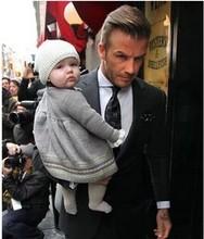 David Beckham daughter s Choice 2014 new Autumn Winter girls bow brand dress super quality kids