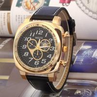 WEITE New 2014 Fashion Sports Watch Steel Case Military Watches Quartz watches, Round dial Analog Wristwatch
