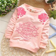 girls flower cotton baby children sweatshirts hoodies European style KT220R(China (Mainland))