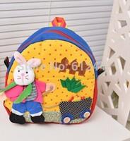 Free Shipping Fashion New Design Cute Canvas Cartoon Casual Kids School Bag Children Backpack Bag
