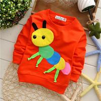 girls boys spring wear animal caterpillar children sweatshirts hoodies European style KT219R