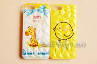 Customized designs UV printing Diamond Shape Hard Plastic Case for iphone 4/4S
