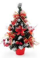 free shopping Christmas decoration 50 * 27cm Red PVC sticky white decorative Christmas tree bonsai