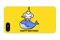 yellow happy birthday quote cute kawaii whale animal pattern 4 4S 5 5S 5G cover sleeve protectors for iphone 5 case whale