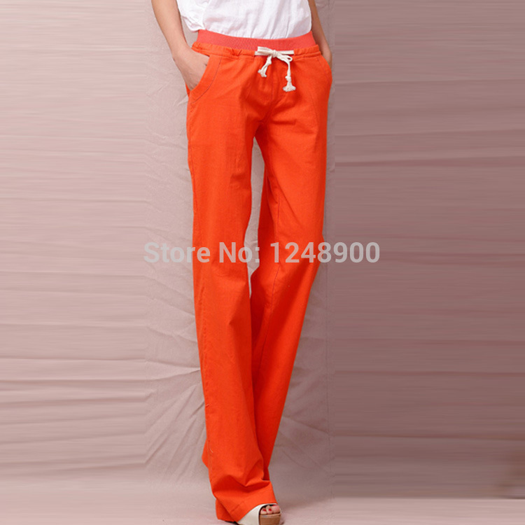 Drawstring Pants Linen Women Linen Harem Pants Women