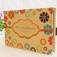 2014 New Our Story 10 inch diy vintage handmade photo album baby wedding love travel family photo album scrapbook free shipping