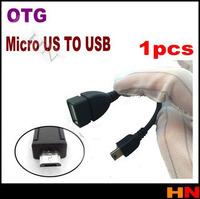 1pcs Black OTG mini usb TO USB cable for samsung galaxy S2/S3/S4 i9100 i9300 i9500
