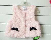 Retail Baby Girl's Autumn Fleece Jacket/Girl's Outerwear/Children's Hoodies & Sweatshirts/Girl's Vests&Waistcoats+Free Shipping