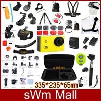 Gopro Sport HD Sj4000 Digital Camera+Full Set Accessories Selfie Stick Tripe Helmet Band For Go pro Hero3+/1/2/3 Battery+Charger