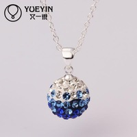 N058 Attractive Handmade AB clay shamballa necklace for women