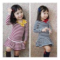 Baby Girls Dress Kid New 2014 Autumn Long Sleeve Children Girls Dress Girl Princess Dress Baby Clothing vestidos de menina