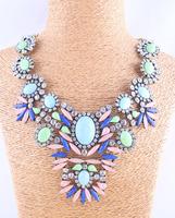 wholesale fashion necklace crystal Antique metal choker collar necklace & pendant statement necklace 2014 women
