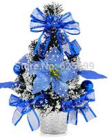 free shopping Christmas arrangement of sticky white 30cm blue snowflake decorative bonsai tree bonsai tree