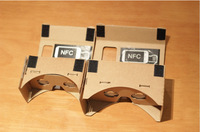 The Newest 2014 MAX Version Cardboard Google VR 3D Glasses With NFC For Samsung Note 2/Note 3/Note 4 For LG G3 Free Shipping