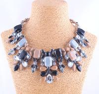 New 2014 fashion necklace Za Fashion black acrylic bib collar pendant Necklace & pendant for women gifts