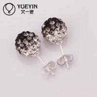 E106 Elegant wholesale fashion design AB clay earring for women